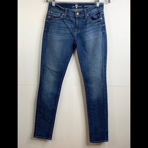 7 For All Mankind Roxanne Denim Skinny Jeans Sz 26